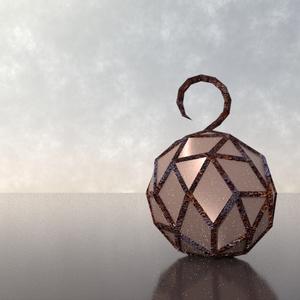 3Dモデル「網目の鉱石灯」