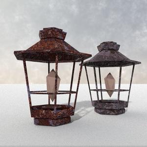 3Dモデル「古びた鉱石灯」