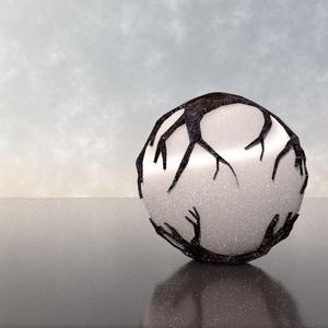 3Dモデル「苔た鉱石球」