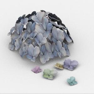 3Dモデル「紫陽花の飾り」