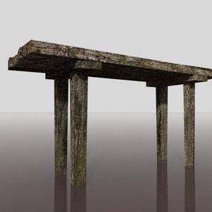 3Dモデル「苔た長机」