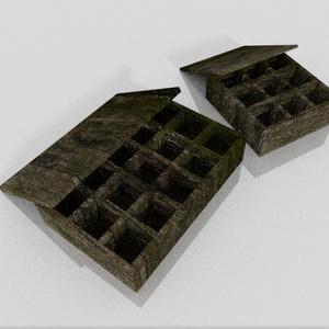 3Dモデル「古びた小物入れ」