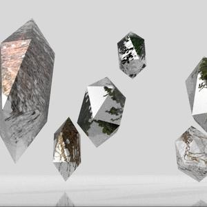 3Dモデル「植物結晶」