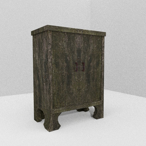 3Dモデル「苔木のシェルフ」