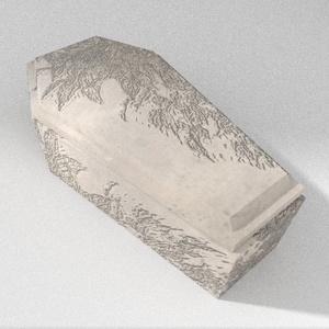 3Dモデル「灰色と植物の棺」