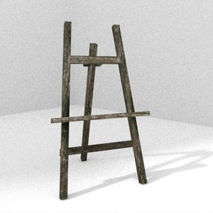 3Dモデル「苔木のイーゼル」