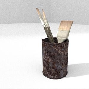 3Dモデル「朽ちかけの空き缶」