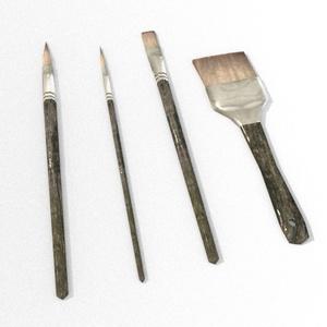 3Dモデル「枯木の絵筆」