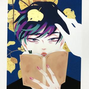 読書少年のポストカード(単品)