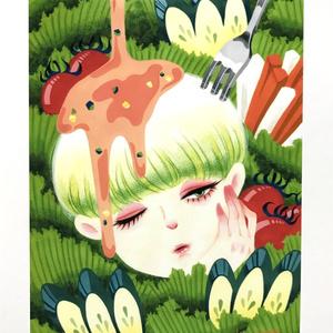 サラダ少年のポストカード(単品)