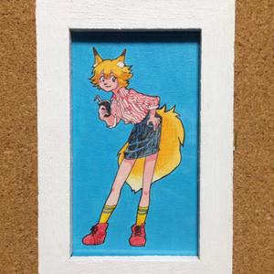 アメリカンポップな狐ちゃん ミニ原画