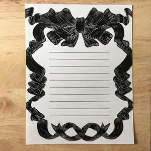 りぼんの柄のレターセット