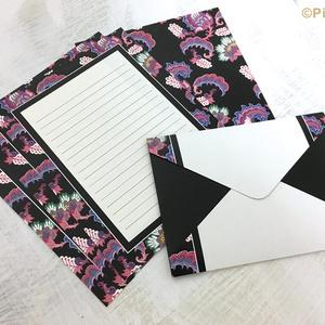 ピンクのペイズリーのレターセット