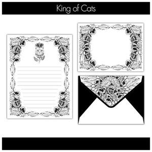 猫の王様のレターセット