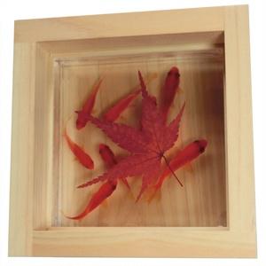 金魚 ひのきアート 咲 紅葉 紅 還暦 誕生日 結婚 男性 女性 贈り物 ギフト プレゼント クリスマス お正月