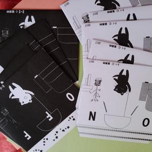 白黒ねこ封筒 2種類入り