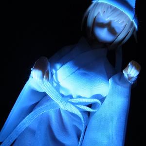 ◆ 白衣(びゃくえ)◆長襦袢・幽霊・雪女などにどうぞ◆1/12サイズ布服◆