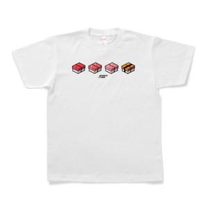 Tシャツ「SUSHI CUBE [type01] / マグロ&玉子」