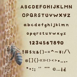 【お試し版・無料】手書きフォント ハニィバター(フリーフォント)   Handwritten Font HONEY BUTTER
