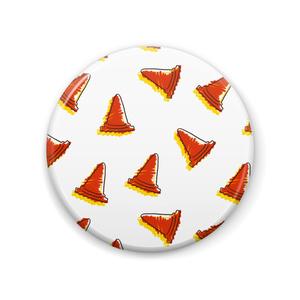 三角コーンいっぱい缶バッジ