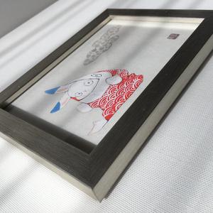 日本画原画 -あかの鯉-