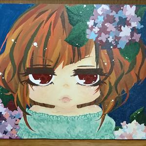 【原画】紫陽花の娘