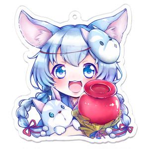 【白猫】コヨミのアクリルキーホルダー