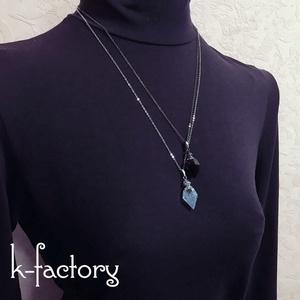 宝石の香水瓶ネックレス(深海の魔法)レジン製