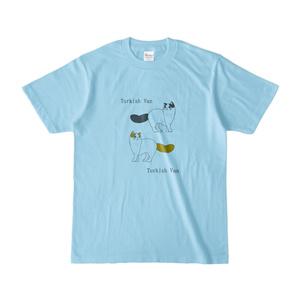 ターキッシュバン Tシャツ(水色スイムキャットカラー)