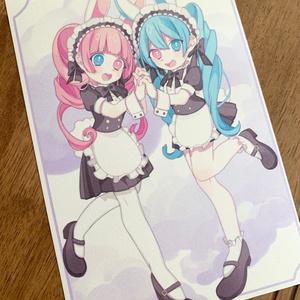 双子メイドさんポストカード