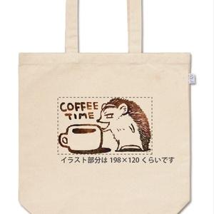 Mサイズ-ハリネズミ堂さんと珈琲タイム-トートバッグ:ノーマル