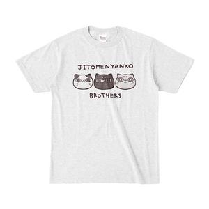 じと目にゃんこブラザーズ Tシャツ