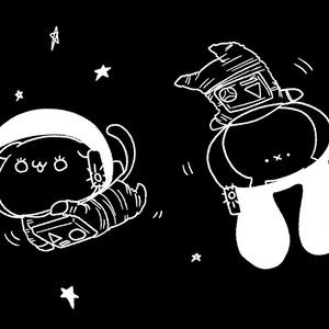 宇宙ぺぺぺとまーちパーカー