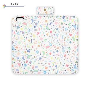 手帳型iPhone Case ベルト無し - 平成最後のフォントプロジェクト