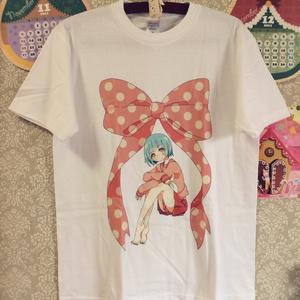 Tシャツ_ピンクと水色(直筆イラストカード付き)