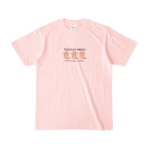 つばさネコ-Tシャツ/ライトピンク