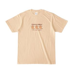 つばさネコ-Tシャツ/ナチュラル