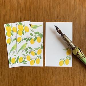 Message Card レモンと青羽木葉鳥