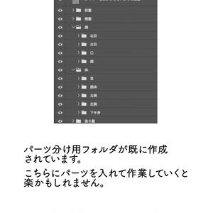 【Live2D】パーツ分けテンプレート