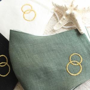 マスク3 冷感ガーゼverー金刺繍ー