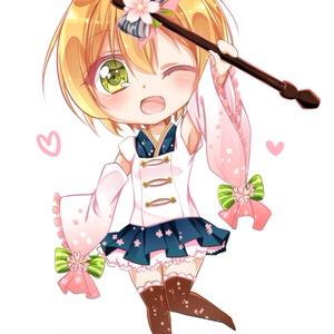 桜凛ちゃんアクリルフィギュア(おまけ生写真風付き)