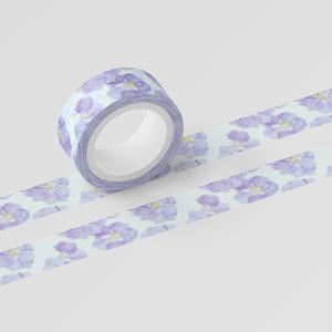 くしゅくしゅお花のマスキングテープ