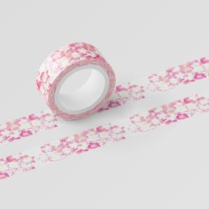 桜色紫陽花のマスキングテープ