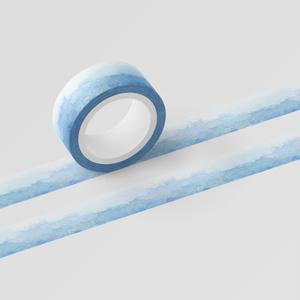 波打つ水彩マスキングテープ