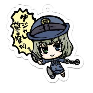 「ダジャレ警察だ!」アクリルキーホルダー