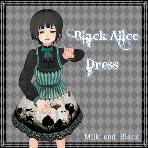 【無料版あり】黒アリス-白うさぎ-【VRoid】