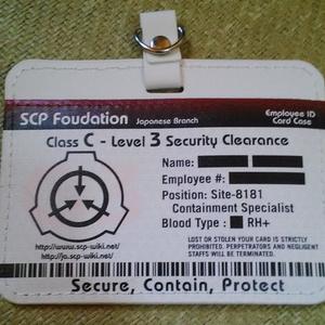 SCP財団パスケース(日本支部IDカードver)
