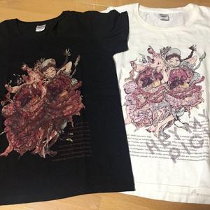 豚と女の子Tシャツ