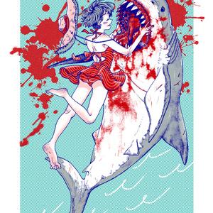 サメと女の子トート