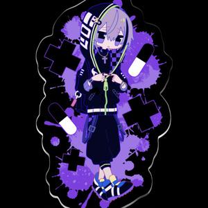 【叶/夜魅】アクリルキーホルダー2種